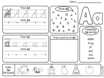 Alphabet Practice Printables - D'NEALIAN
