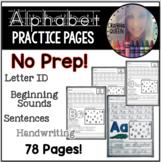 ABC Practice Sheets-No Prep!
