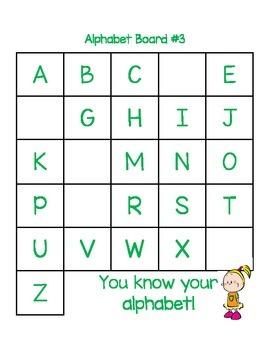 ABC Practice: Simple Literacy Center to Promote Alphabet Fluency