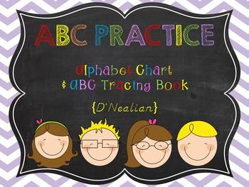 ABC Practice {Tracing Pages} D'Nealian