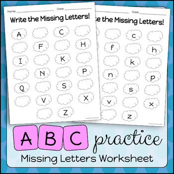 ABC Practice | Write the Missing Letters