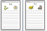 ABC Practice Writing Paper (primary writing lines with dashes)