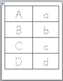 ABC Print Dotted Flash Cards