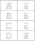 ABC Print Dotted Flash Cards with Line and Arrows