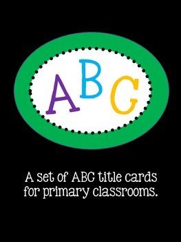 ABC Print Title Cards