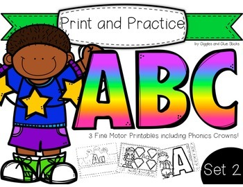 Print and Practice: ABC Set 2