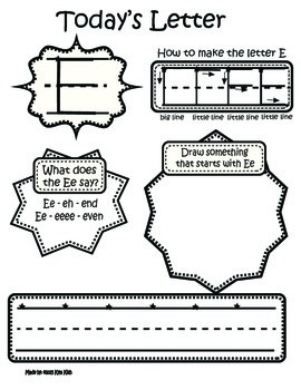 ABC Printing and activity Booklet Compatible with Handwriting without Tears