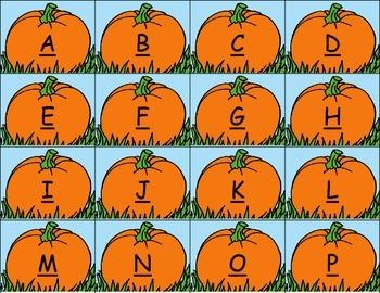 ABC Pumpkin Matching Game