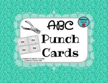 ABC Punch Cards (Fine Motor Activities)