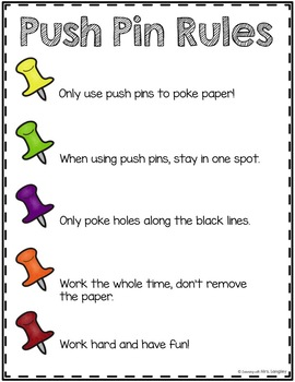 Push Pin Activities