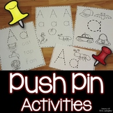 ABC Push Pin Activities