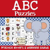 ABC Puzzle Matching Cards - Letter Onsets with Words and Pictures