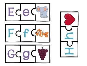 ABC Puzzle Piece Cards {freebie}