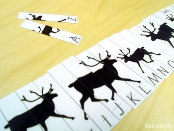 ABC Puzzle Reindeer