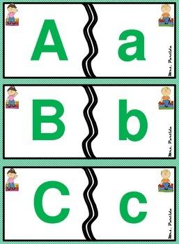 ABC Puzzles Center  Rompecabezas del Abecedario Bilingual Stars Mrs Partida