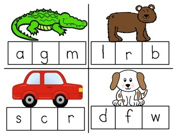 ABC Puzzles & Clothespin Cards - Letter/Sound Recognition Activities