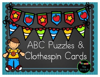 ABC Puzzles & Clothespin Cards - Letter/Sound Recognition