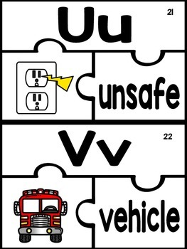 ABC Puzzles Fire Safety Edition