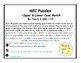 ABC Puzzles Upper and Lower Case Match