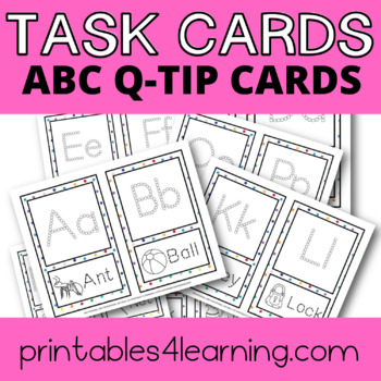 ABC Q-Tip Painting Flash Cards