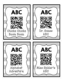 Back to School ABC QR Codes