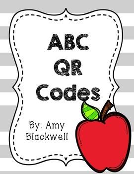 Back to School ABC QR Codes