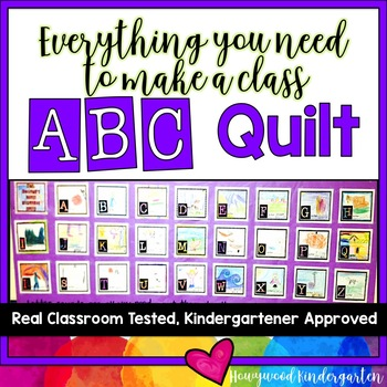 Alphabet Quilt or Class Book!  Fun for Learning in Preschool or K!