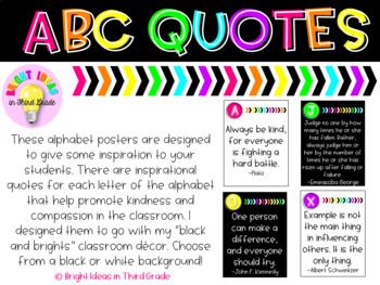 ABC Quotes {Black & Brights Collection}