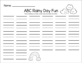 ABC Rainy Days Fun