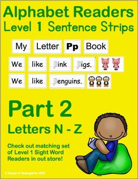 ABC Readers Level 1 Sentence Strips Part 2 - Letters N - Z