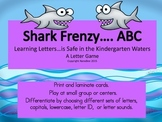 ABC Recognition Shark Frenzy Game - letter identification and letter sounds