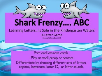 ABC Recognition Shark Frenzy Game - letter identification