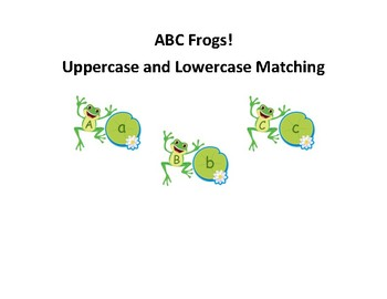 ABC Recognition Uppercase and Lowercase Matching Game
