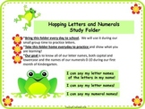ABC Recognition and Numeral Recognition Fluency Practice (Frogs)