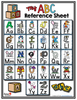 Alphabet Poster Reference Sheet
