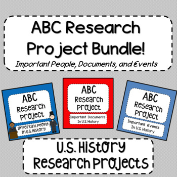 ABC Research Project for U.S. History Bundle!