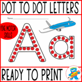 Dot painting worksheets. All the letters ready to print in B&W