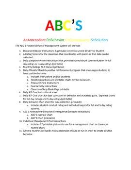 ABC'S Positive Behavior Management System