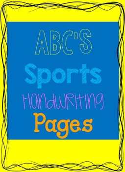 ABC'S Sports Handwriting Booklet!
