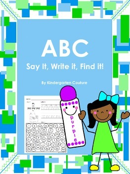 ABC Say it, Write it, Find it!