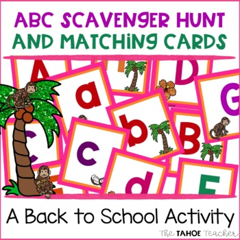 ABC Scavenger Hunt and Matching Cards