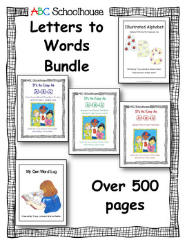 ABC Schoolhouse Letters to Words Bundle