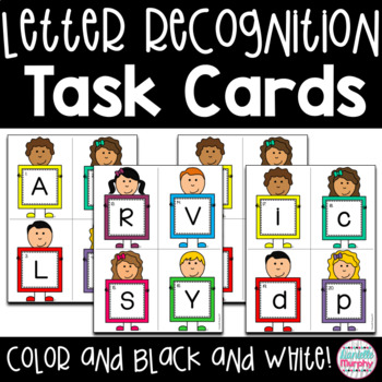 Alphabet Recognition Task Cards or Scoot Game