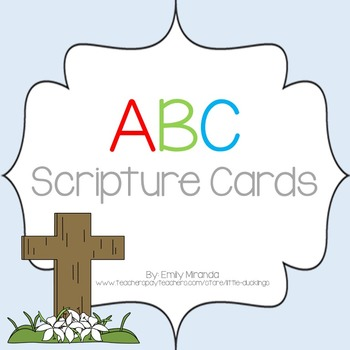 ABC Scripture Cards - Upper and Lower Letter Match &  Bible Verse