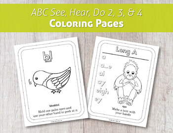 ABC See, Hear, Do 2 Coloring Pages