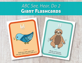 ABC See, Hear, Do 2 Giant Flashcards