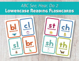 ABC See, Hear, Do 2 Lowercase Reading Flashcards