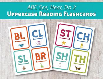ABC See, Hear, Do 2 Uppercase Reading Flashcards