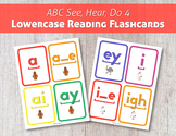 ABC See, Hear, Do 4: Lowercase Reading Flashcards
