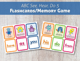 ABC See, Hear, Do 5: Flashcards/Memory Game